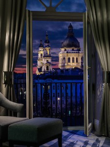 The view of St Stephens Basilica from the Ritz-Carlton, Budapest
