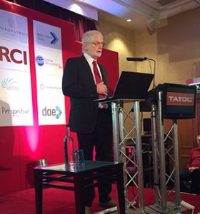 Geoff Chapman addresses delegates at the TATOC conference