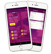 The new WOW air app