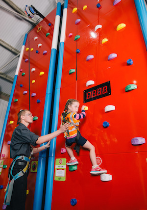 The new indoor Clip'n'Climb walls at Gwel an Mor