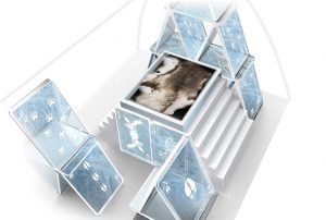 The 'House of Cards' design for the new Icehotel