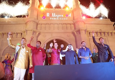 The opening of Bollywood Parks Dubai