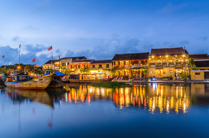 The historic town of Hoi An is a UNESCO world heritage site
