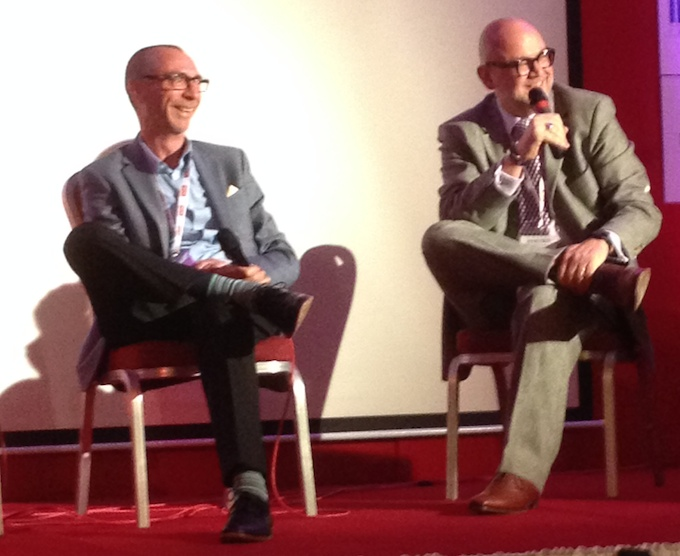 Francis Taylor and Dimitris Manikis during the panel session