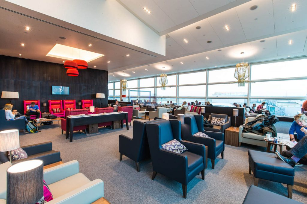 BA's expanded lounge area