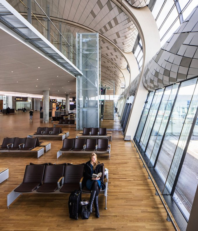 Inside the new passenger terminal. Credit: Ivan Brodey