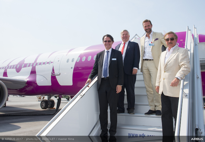 Delivery ceremony for WOW air's A321neo