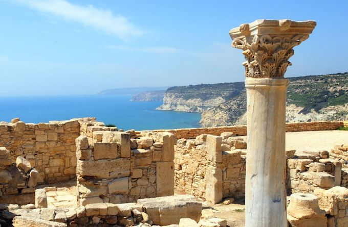 An early Christian Basilica at Kourion, one of Cyprus's many tourist attractions