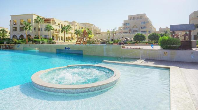 Pool area at Grand Swiss-Belresort Tala Bay Aqaba