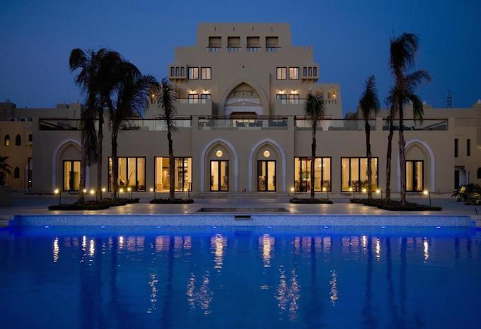 The resort's impressive frontage