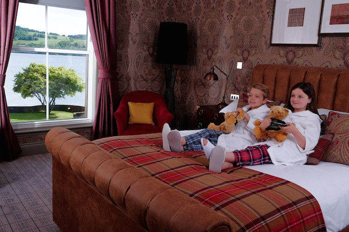 Youngsters relax in luxury at Cameron House
