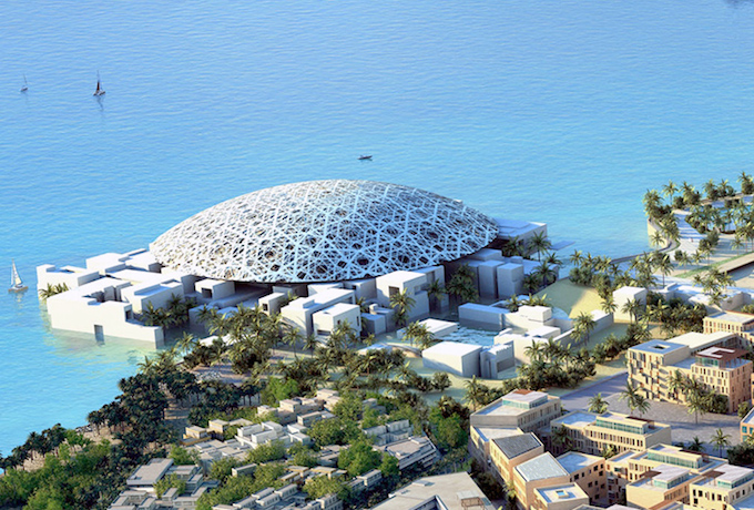 The stunning Louvre-Abu Dhabi has been designed by architect Jean-Nouvel