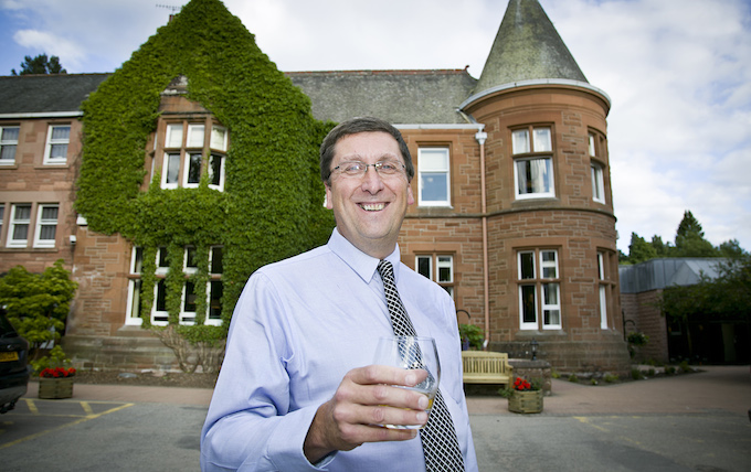 Richard McIntosh toasts the relaunch of Hilton Craigendarroch following a £4.1m refit in 2013