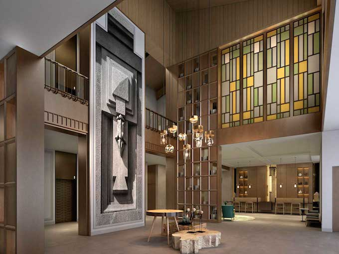 How the hotel's impressive foyer will look