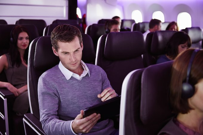 Connecting to WiFi on a Virgin Atlantic Dreamliner