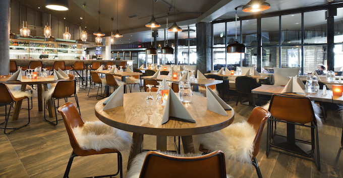 The restaurant has been given a modern look with a strong Lapland atmosphere