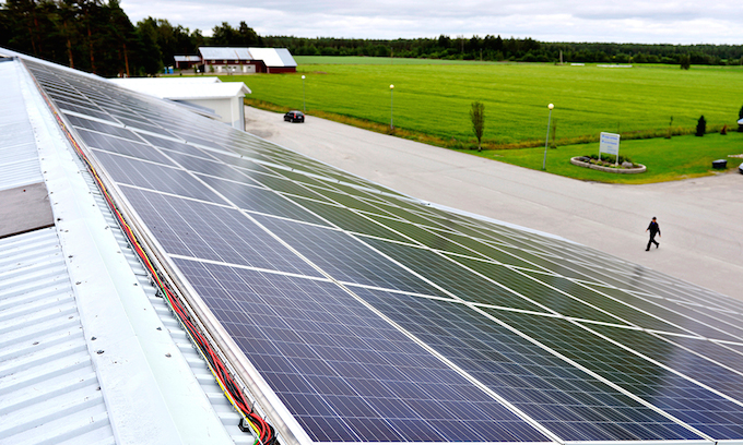 The solar panels at Holiday Club Katinkulta